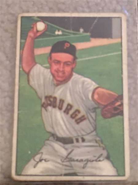 1952 BOWMAN BREAK: JOE GARAGIOLA #27 Pirates Book $60.00- $180.00