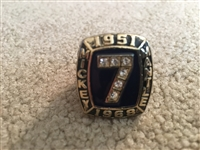 "MICKEY MANTLE ""GOLD"" REPLICA RING 536 HR #7 RETIRED 1951-68 Size 11 Hall of Fame"
