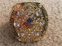 PITTSBURGH STEELERS 2008 REPLICA Sz11 SUPER BOWL RING 6th WIN ROETHLISBERGER