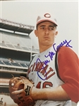 "JIM MALONEY REDS 2 NO HITTERS !! ""BOLD 10"" MOELLER SIGNED 8x10 PHOTO"
