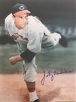 "JOHNNY VANDERMEER Back to Back No Hitters 1930s REDS ""BOLD 10"" SIGNED 8x10 PHOTO"