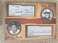 MICKEY MANTLE & PETE ROSE HISTORIC CUTS FACSIMILE SIGNATURES ~ Amaze Your Friends