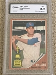 1962 TOPPS #288 BILLY WILLIAMS HOF 1961 ALL STAR ROOKIE TROPHY CARD