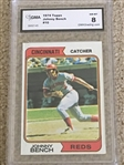 "JOHNNY BENCH 1974 TOPPS #10 Nr MINT - MINT ""8"" Absolute Beauty !!!"
