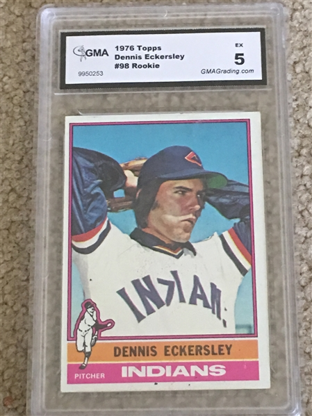 DENNIS ECKERSELY 1976 TOPPS ROOKIE #98 EX $30.00- $75.00