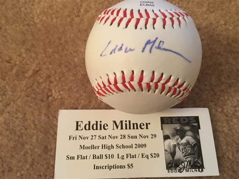 $ EDDIE MILNER $ MOELLER SIGNED on OL BALL $$ NEVER SOLD ONE AT AUCTION BEFORE $$