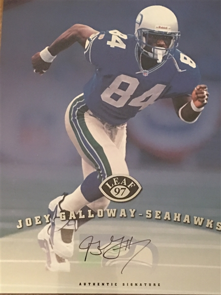 JOEY GALLOWAY 1997 LEAF 8x10 PHOTO INSERT - OHIO STATE BUCKEYES